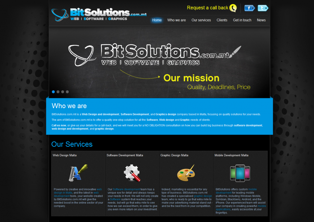 BitSolutions home page